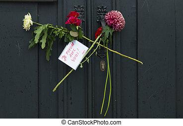 blomningen, hos, fransk, consulate