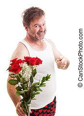 blomningen, make, valentinkort