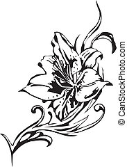 blomningen, vektor, -