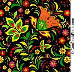 blomst, farverig