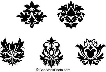 blomst, mønstre