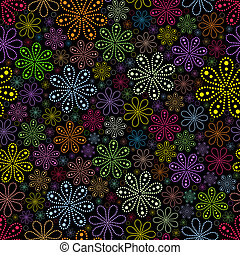 blomst, sort baggrund
