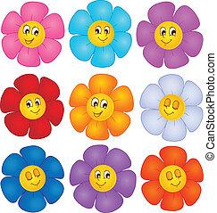 blomst, tema, image, 4