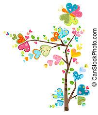 blomst, træ