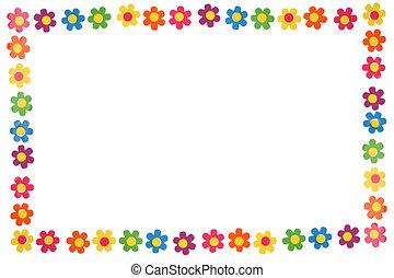 blomster, farverig