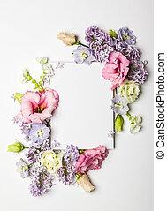 blomster, og, invitation, card
