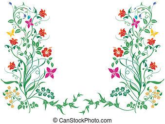 tegninger af blomsterranker