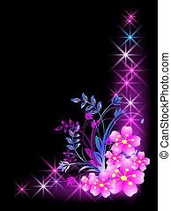 blomster, stjerner