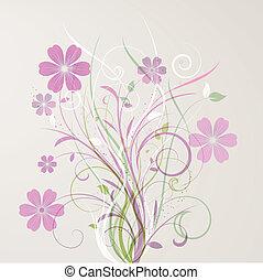blomstrede, abstrakt