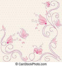 blomstrede, hilsen card