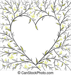 blomstrede, hjerte