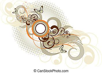 blomstrede, pasteller, baggrund