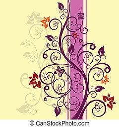 blomstret konstruktion, vektor, illustration