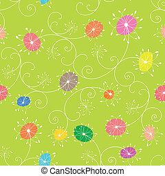 blomstret mønster, seamless, farverig