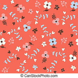 blomstret mønster, seamless