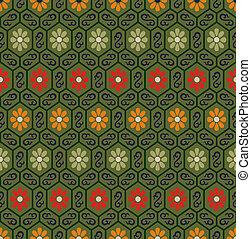 blomstret mønster, seamless, kinesisk