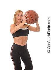 Blond Basketball Player