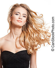Blond beauty with amazing hair.