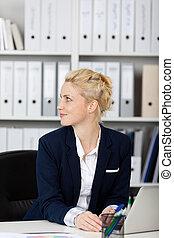 Blond Businesswoman At Work