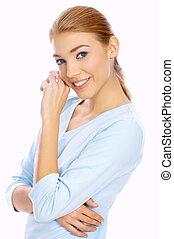 Blond Cutie - Portrait of a nice looking blond woman ...