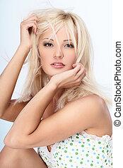 blond, dama
