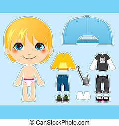 Blond Fashion Boy - Sweet and cute blond fashion boy clothes...