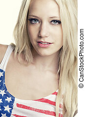 Blond fashion model