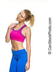 blond, fitness