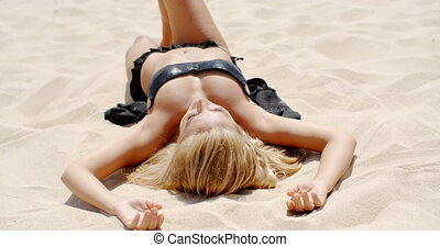 Blond Girl at the Beach