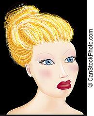 Blond girl.