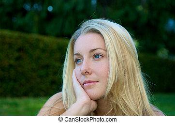 Blond Girl dreaming