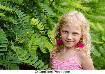 blond girl portrait