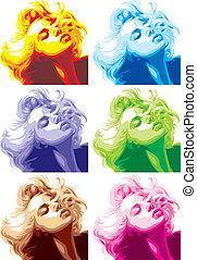 blond, girl, regard, aimer, marilyn monroe