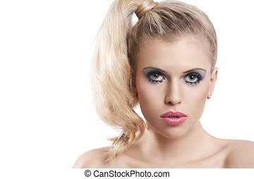 Blond girl with creative make up