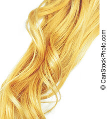 blond hair, isolated on white