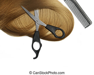 Blond Hair - Long healthy blond hair and professional...