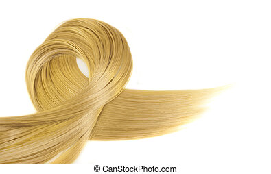 blond hair style isolated on white