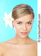 Blond haired Beauty - Portrait of 20-25 years old beautiful...