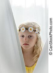 blond little girl portrait