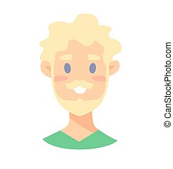 blond, mâle jeune, caractères