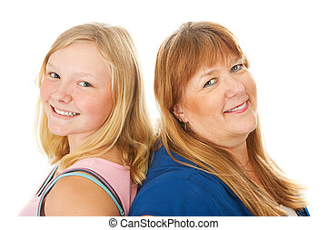 Blond Mother and Daughter