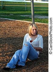 Blond On Playground 3