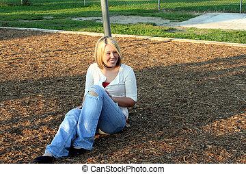 Blond On Playground 4