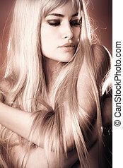 blond, piękno
