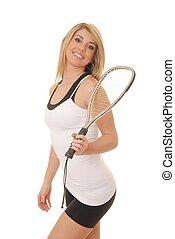 Blond Racket Ball Player 1