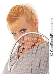 Blond Racket Ball Player