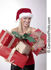 Blond Santa Girl