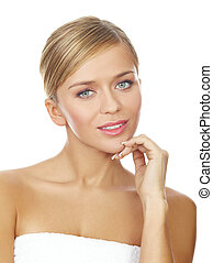 Blond Sweety - Portrait of beautiful young blond woman,...