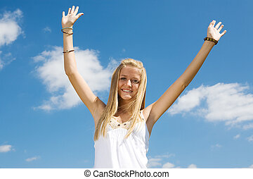 Blond Teen Enthusiasm