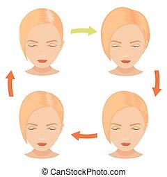 Blond woman hair treatment
